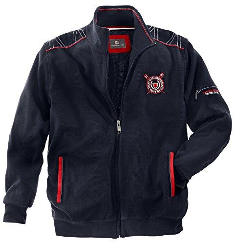 JAN VANDERSTORM Herren Sweatjacke ATLI in 100% Baumwolle. Jacke Herren erhältlich bis Übergröße 74(5XL) Dunkelblau