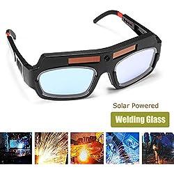 Espeedy Gafas de Protecciones para Ojos,Gafas de seguridad accionadas solares que oscurecen los vidrios de soldador de la protección de los ojos de la soldadura de los ojos de soldador