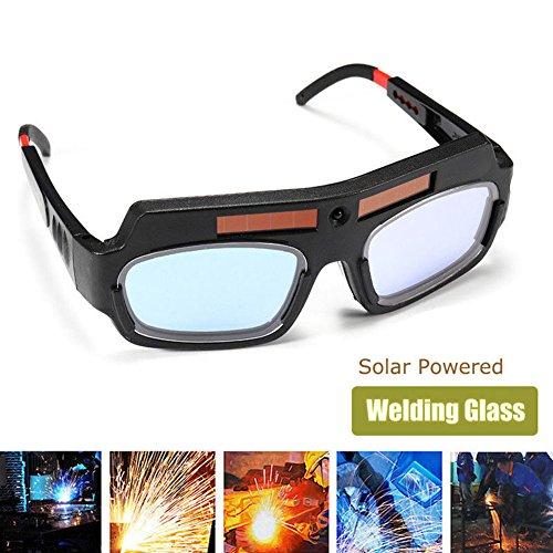 Teekit Occhiali di Sicurezza ad energia Solare Auto oscuranti Saldatura Occhiali Protezione degli Occhi Saldatore Occhiali Maschera Arco