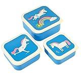 Rex International 27997 - Set de 3 cajas almuerzo unicornio
