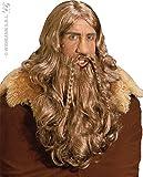 Unbekannt Générique pe261–Perücke mit Bart und Schnurrbärte Viking–Einheitsgröße