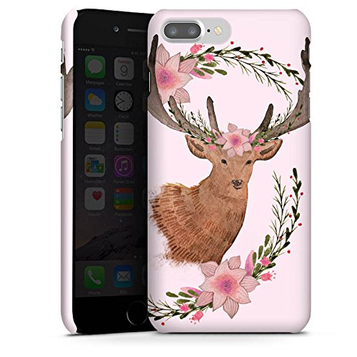 Apple iPhone X Silikon Hülle Case Schutzhülle Reh Blumen Deer Premium Case glänzend