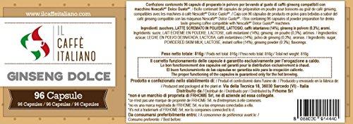 96 Capsule compatibili Nescafè Dolce Gusto al Ginseng - Il Caffè Italiano