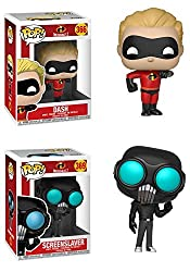 Funkopop Incredibles 2: Dash + Screenslaver – Stylized Disney Pixar Vinyl 2 Figure Bundle Set New