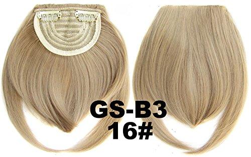 # 16 100% fibre synthétique haute température Clip dans/sur cheveux avant frange frange cheveux