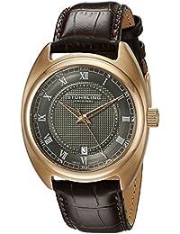 Stuhrling Original  728.04 - Reloj de cuarzo para hombre, con correa de cuero, color marrón