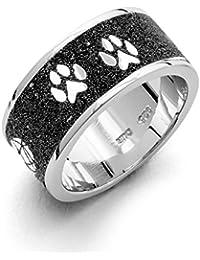 Durable Decorative Sand Ladies Ring Designed 925Silver R4689