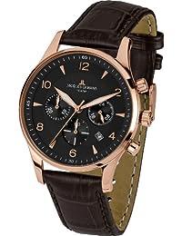 Jacques Lemans Herren-Armbanduhr XL London Chronograph Quarz Leder 1-1654G