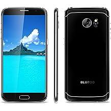 Bluboo Edge - 4G Smartphone Libre Android 6.0 Multi-Idioma (Inteligente FrontalTouchID, Sensor de Corazón, HD Pantalla 5.5'' IPS, MT6737 Quad Core 1.3 GHz, 2G Ram, 16G Rom, Dual Sim, Bluetooth 4.0 GPS WIFI ) (Negro)