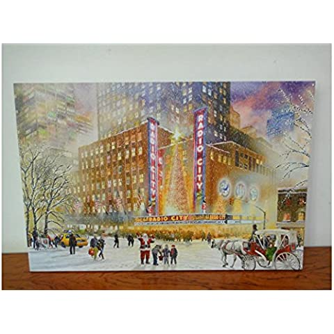 XYXY Pittura con il giorno di Natale LED luce Home Decor tela parete arte moderna pittura di paesaggio decorazione . 40*50