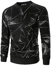 BUSIM Men's Long Sleeve Sweater Autumn Classic Print Pullover Sweatshirt Round Neck Casual Slim T-Shirt Coat Trend... - B07H9BZZXC