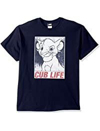 Disney Men's Lion King Simba Cub Life Graphic T-Shirt Shirt