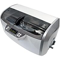 310W 6 litri Riscaldato Pulitore ad Ultrasuoni, Plastica Cestino, 30 minuti Timer, drain, 2 trasduttori, 2 riscaldatori (Grigio) - Utensili elettrici da giardino - Confronta prezzi