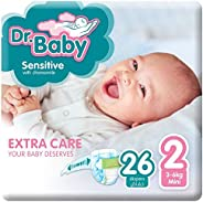 Dr.Baby Sensitive with Chamomile, Size 2, 3-6 kg, Value Pack, 26 Diapers