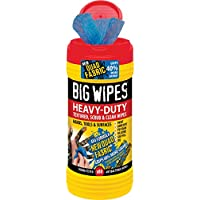 Big Wipes BGW2420 4x4 Heavy-Duty Cleaning Wipes - Black (Pack of 80)