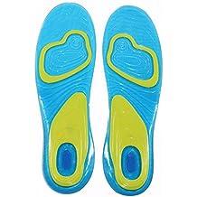 zooarts 1par Gel plantillas ortopédicas trabajo deporte running para mujeres hombres, multicolor, Men(UK 8-13)