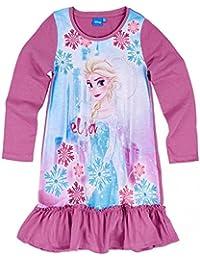 Chemise de nuit manches longues enfant La reine des neiges Violet de 3 à 10ans