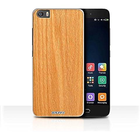 Custodia/Cover/Caso/Cassa Rigide/Prottetiva STUFF4 stampata con il disegno Effetto legno grano/modello per Xiaomi Mi5/Mi 5 - Pino