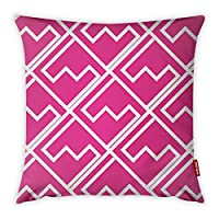 Mon Desire Decorative Throw Pillow Cover, Pink, 44 x 44 cm, MDSYST2638