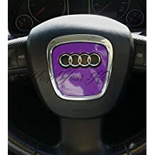 Wrap Your Badge Morado brillante Airbag Volante Wrap S RS A1 A3 A4 A5 ...