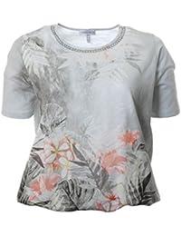 Serena Malin Damen XL T Shirt mit Gummizug in Großen Größen Baumwolle ... 28c424fa9c