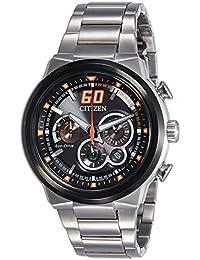 Citizen Sport Eco-Drive Chronograph Orange 45 mm Men's Watch CA4134-55E