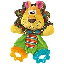 Happy cherry - Juguetes Sonajero Mordedor Peluche de Animales para bebés niños niñas recien nacidos - león