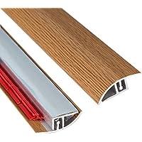 Oscuro Acabado de madera Transición Tira Adhesiva Ajustable Altura 900mm de longitud x 40mm de ancho