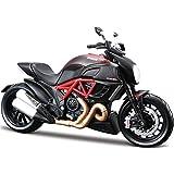 Maisto 1:12 Diecast Metal Ducati Doiavel Carbon, Black/Red