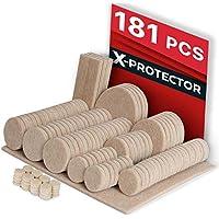 Felt Pads X-PROTECTOR – Premium Furniture Pads Floor Protectors 181 pcs Ultra Large Pack - All Sizes Furniture Felt Pads Furniture Feet – Best Adhesive Pads for Furniture. Protect Your Wood Floors!