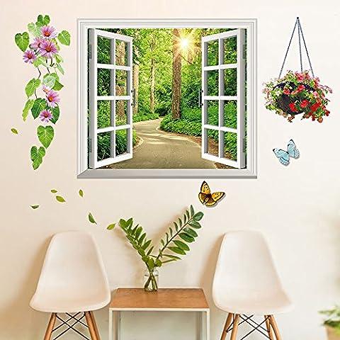 Simulazione 3D vaso fiore adesivi sticker soggiorno sfondo decorazione da parete , 4