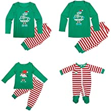 AIMEE7 Navidad Ropa Familiar, Mujeres Padre Madre Bebé Niño Niña Navidad Pijamas Ropa de Dormir