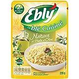 Blé EBLY Express micro-ondable 2 min Nature avec un filet d'huile d'olive 220 g