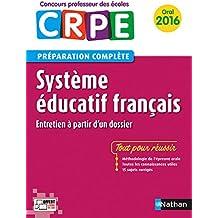 Système éducatif français - Préparation à l'épreuve orale
