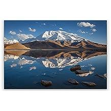 arthewall – Muztagh ata – Impresión dilite Panel Aluminio Fotografía Paisaje Naturaleza Montañas Lago Xinjiang China