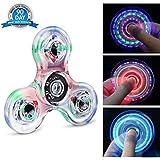 Fidget Spinner Hand Spinner Quimat LED Juguetes de dedos que se enciende EDC 216 Modos Flashing para Niños Adultos Ayuda contra la Ansiedad Enfocándose en Reducir el Aburrimiento y estrés