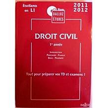 CD Etude Droit Civil Première Annee Non Comm.