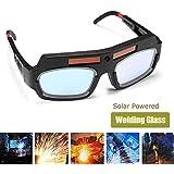 Lanceasy Seguridad Gafas, Gafas De Seguridad Eléctrica Solar De Oscurecimiento Automático De Soldadura Gafas Protección