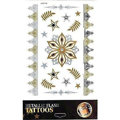 Koerpertattoo Adhesivo Tatuaje Piel Decoración Pulsera Banda De Tobillo Bisutería Carnaval Revestimiento Motivo 9