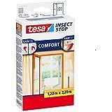 tesa® Insect Stop Fliegengitter COMFORT für Türen, anthrazit, durchsichtig, 1,20 m x 2,50 m