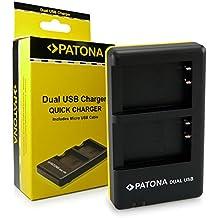 PATONA Dual Cargador LP-E17 para Batería Canon EOS 750D 760D 8000D Kiss X8i M3 Rebel T6i T6s con micro USB