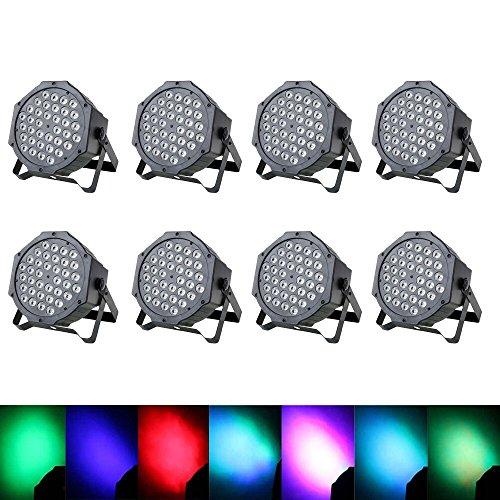 Automatisierte Steuerung (Top-Uking DMX Par Licht Lichteffekt Automatisierte Bühnenbeleuchtung Sprachaktivierte Stage Discolicht mit Kühlerventilator für Disco DJ Ballsaal Party Bar Bühne Club Weihnachten)