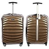 Housse de protection de bagage pour Samsonite Lite Shock Spinner Housse de transport transparente Clear Transparent Clear Housse de voyage pour chariot (Housse uniquement)