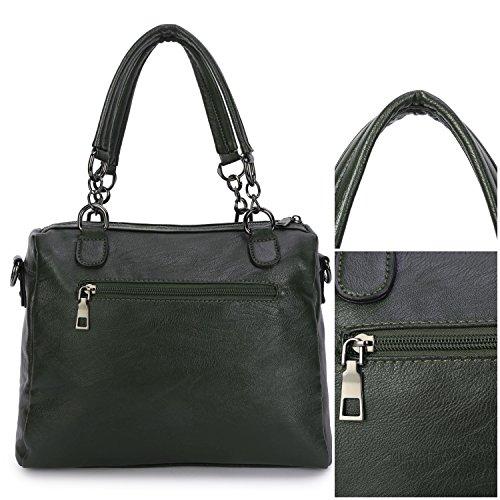 9d91b241d8485 ... Frauen Leder Handtaschen Damen Designer Henkeltasche Mädchen Schulter  Crossbody Messenger Tasche Top-Griff Taschen für ...