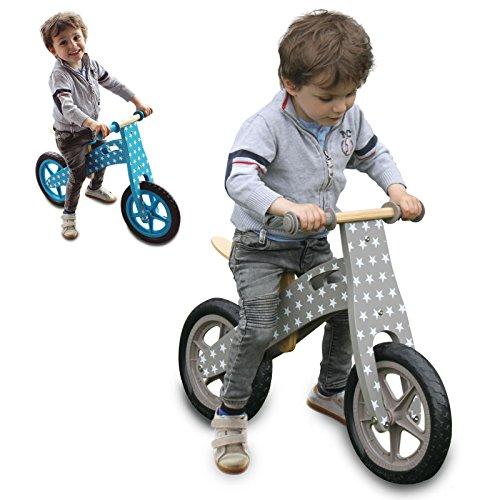 Monsieur Bébé ® Draisienne en bois, vélo sans pédale avec selle réglable - Norme CE - Marron