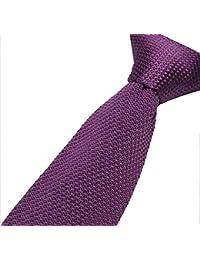 Cravatemince pour hommes violette Unis bout carré de 5cm