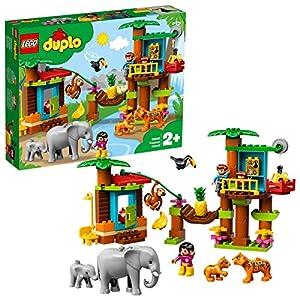 LEGO DUPLOTown IsolaTropicale, Set di Costruzioni,Giocattoli Educativi e Avventurosiper Bambini dai2ai 5Anni con 6 Figure di Animali Duplo, 10906 5702016371017 LEGO
