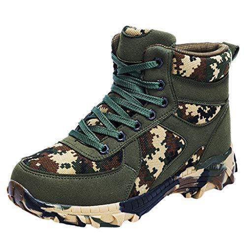 LSAltd Mode Männer Komfortable Outdoor Bergsteigen Schneeschuhe Schnüren Mikrofaser wasserdichte Camouflage Stiefel