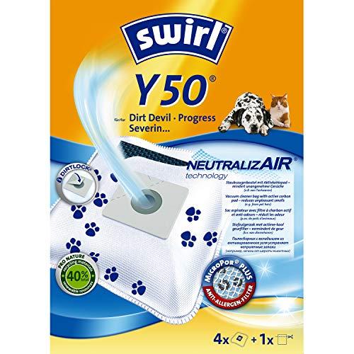 Neutre izair Swirl Y50Sac Aspirateur pour Dirt Devil Aspirateur (4Sacs + 1Filtre