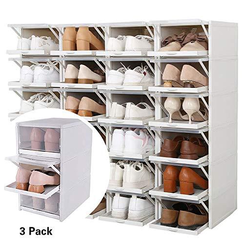 Baffect Organizador Cajas Almacenamiento Zapatos apilables